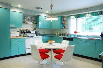 Modern Kitchen Blue Colors