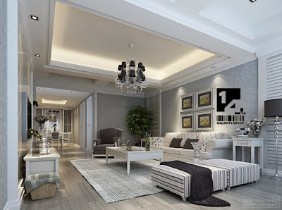 chinese living room white
