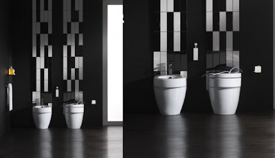 Black and Withe Bathroom Design Interior