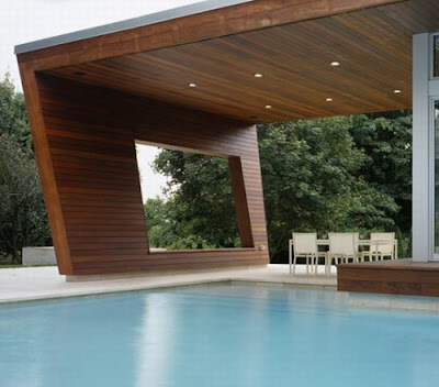 Wilton Pool House with Wooden Interior
