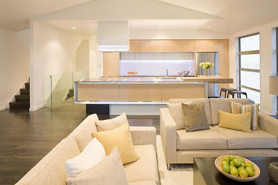 Interior Design Lighting of Modern Kitchen Contemporary