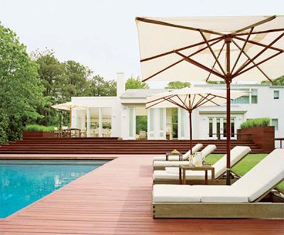 Outdoor patio design side pool chair cushion ideas