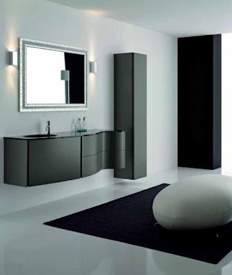 Elegant Black Bathroom Cabinets Max from Novello
