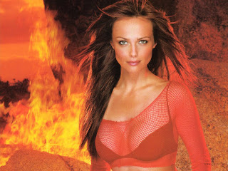 Famous Polish-Swedish Actress Izabella Scorupco Hot Fire Wallpapers