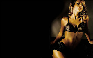 Alessandra Ambrosio Dark Background Bikini Wallpapers