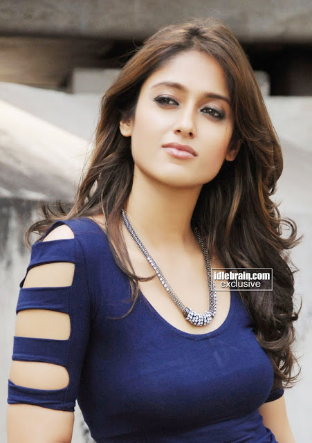 Ileana DCruz Latest Photoshoot Pics in Blue Top and Teared Jeans