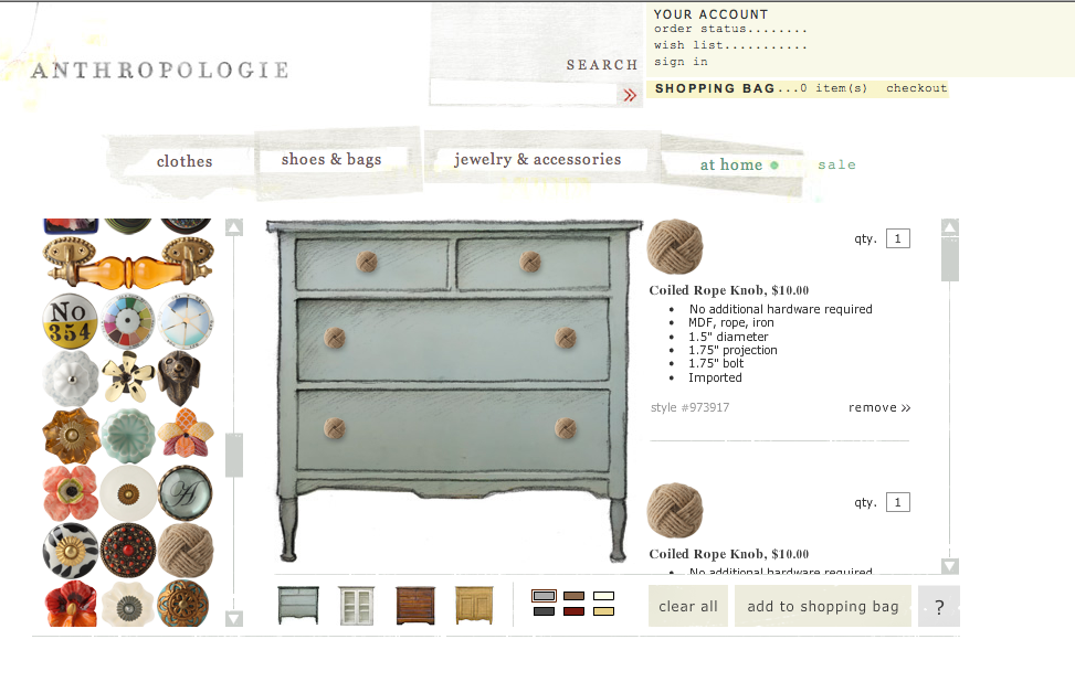 what is even more amazing is the fact that by picking one of the gorgeous knobs or pulls it might just inspire you to paint the piece of furniture anthropologie style furniture