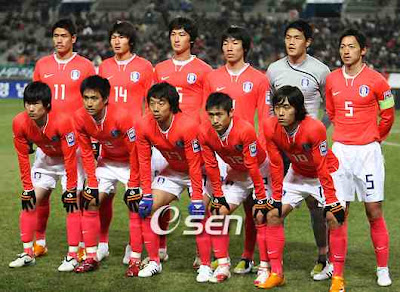 South Korea Team on World Cup 2010