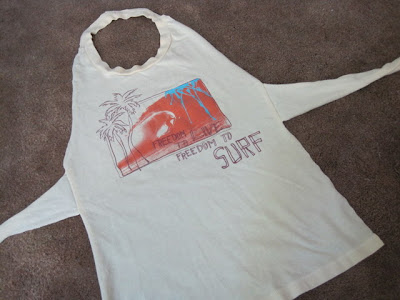 Lu Bird Baby: T-Shirt Kids Apron Tutorial