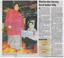 Nurhaniza telah berjaya mengurangkan 16 kg dalam tempoh kurang sebulan~