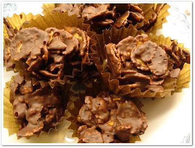 choklad med cornflakes
