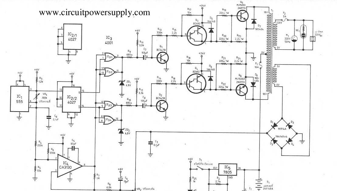 circuit for anything  dc24v to ac220v inverter 300w by ne555 ca3130 mj15003