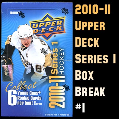 2010-11 Upper Deck Series 1 box break #1
