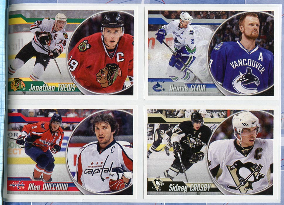 bagged with the new issue of beckett hockey magazine issue 221 is a 2010 11 panini hockey sticker album the album has 72 full color pages and comes with