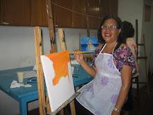 """O  processo  de criação  na  """"pintura  em  tela"""""""