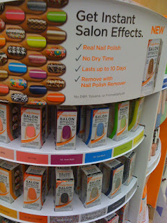 Sally Hansen Instant Salon Effects display