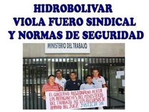 Trabajadores de Hidrobolivar