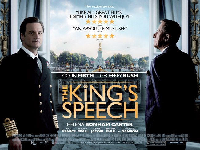 Just finished watching The King's Speech. Wonderful movie about King George