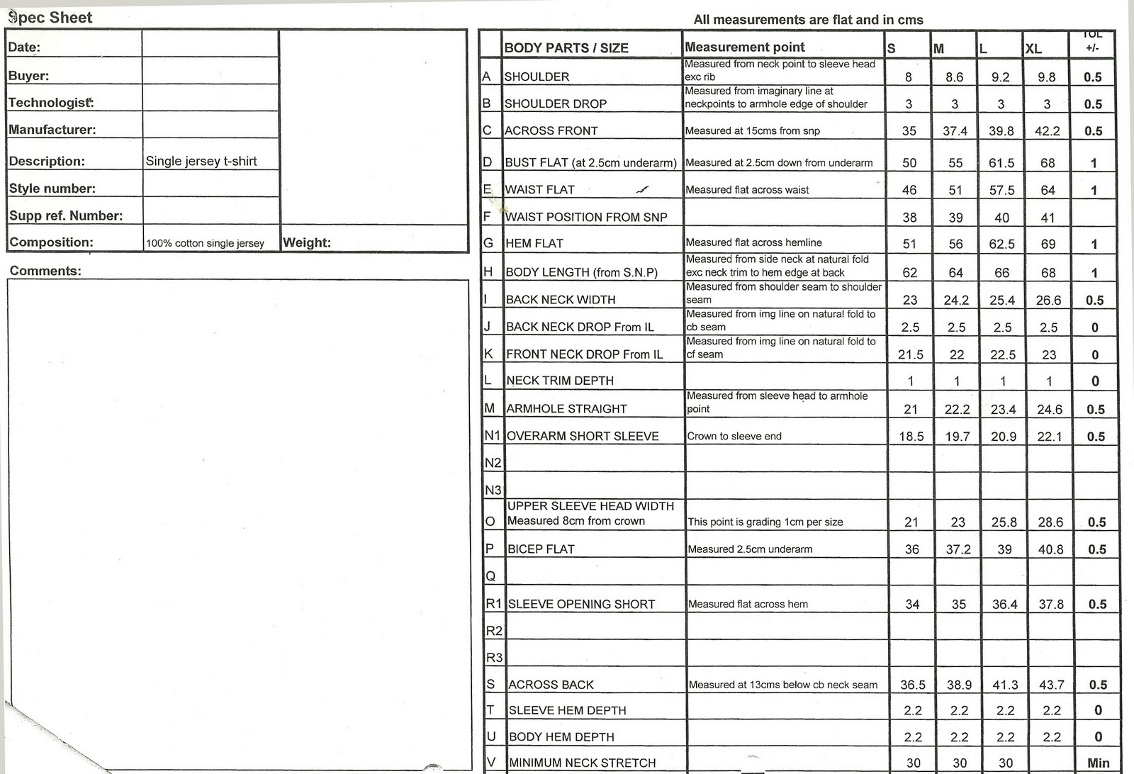 doc 585633 spec sheet template spec sheet template 6