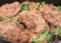 Chicken and Rice With Broccoli and Cheddar