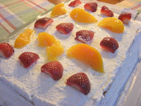 Strawberries n Peaches Cake