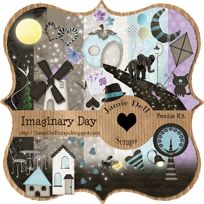 "Scrapbook Freebie Kit ""Imaginary Day"" from Jamie Dell Scraps"
