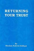 BOOK: RETURNING YOUR TRUST