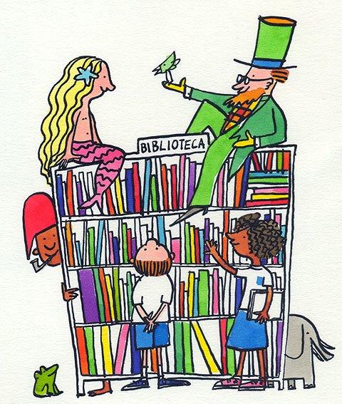 Clica na imaxe e accederás á rede de bibliotecas escolares de Galicia