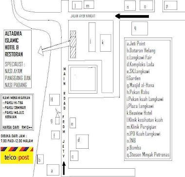 Plan ke AlTaqwa Hotel