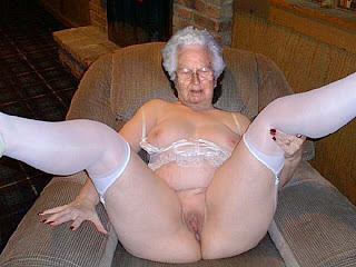 old granny spreads her legs