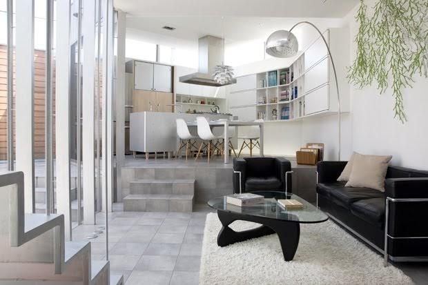 Casas minimalistas y modernas minidepartamentos minimalistas for Arredamento interno casa moderna