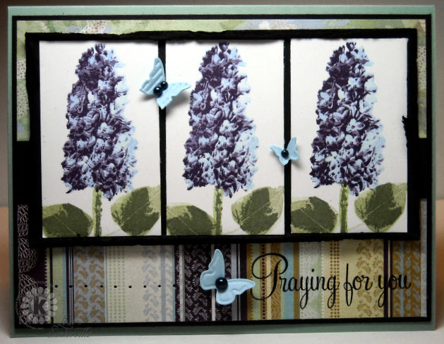 Designs by Lisa Somerville: Kitchen Sink Stamps - Lovely Lilacs