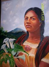 Retratos de mujeres de Eutikio Jerónimo (México)