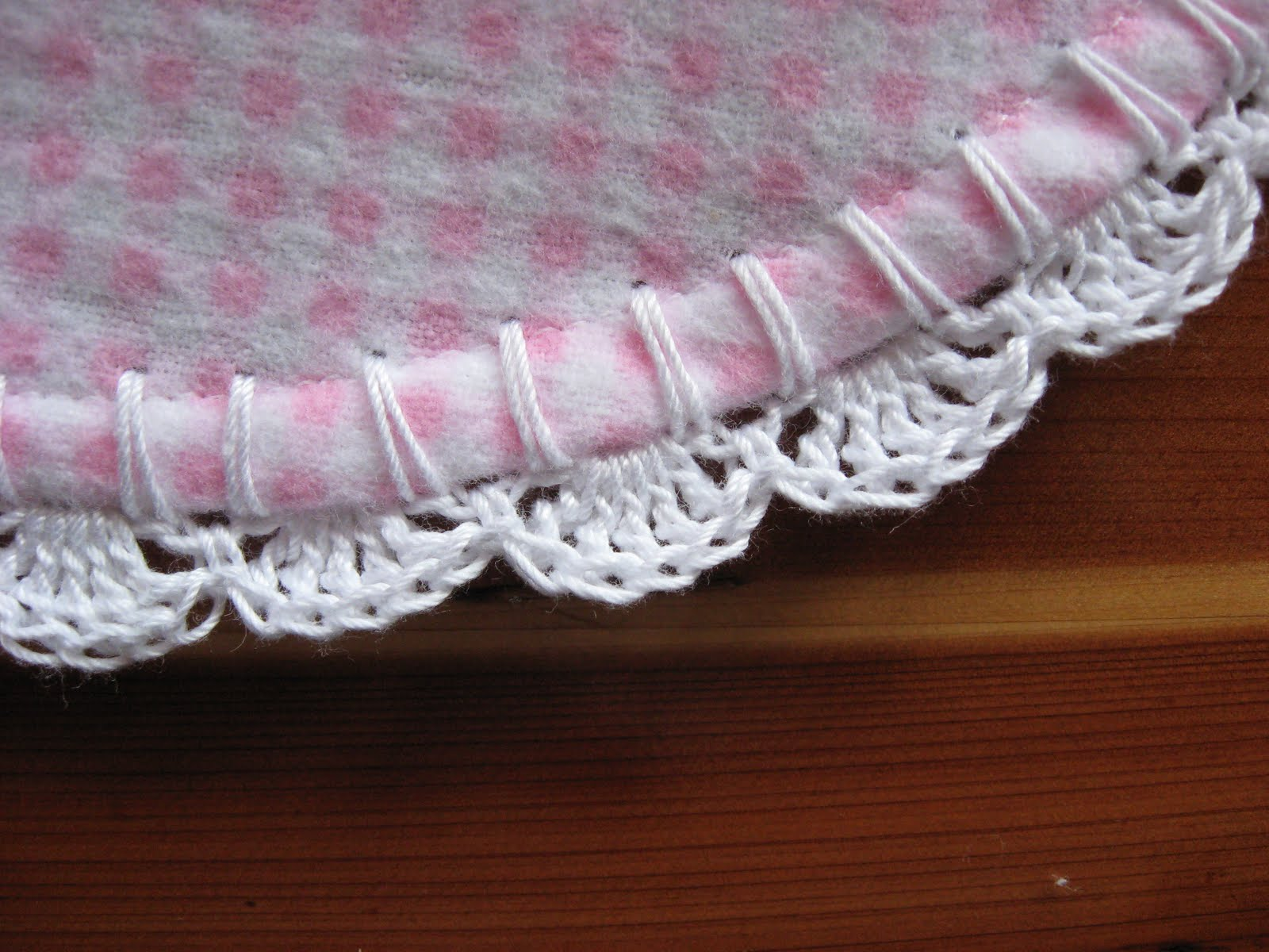 Free Crochet Patterns For Receiving Blankets : Tammys Times: ~Simple Scalloped Edging for a Receiving ...