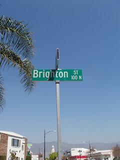 Brighton Street sign, Burbank