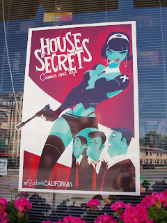 House of Secrets comic shop window poster