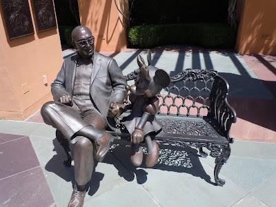 Disney Studios Minnie Mouse bench sculpture