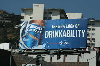 Bud Light drinkability billboard