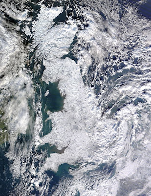 UK under snow satellite picture
