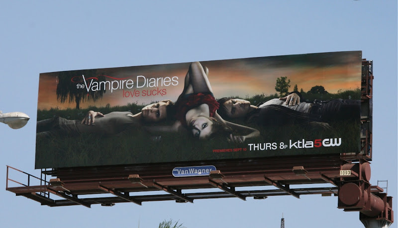 The Vampire Diaries season 1 TV billboard