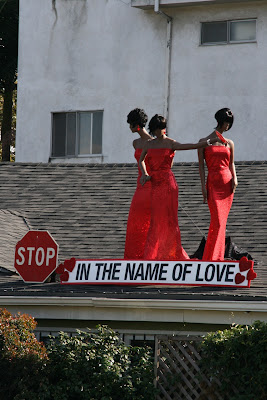 Hollywood Valentine's rooftop display