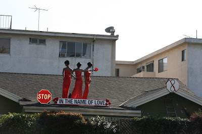 Stop the hate rooftop display