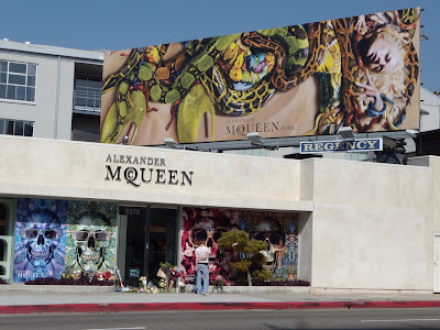 Alexander McQueen Melrose Avenue store tributes