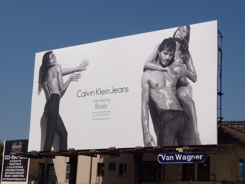 Calvin Klein hot fashion billboard