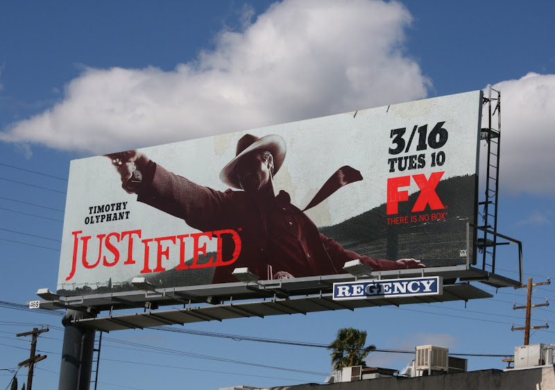 Justified TV billboard