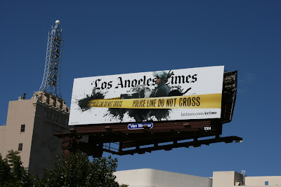 Los Angeles Times police line billboard