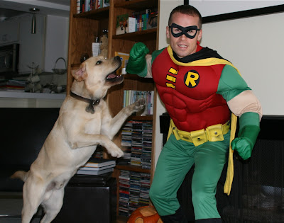 Halloween Cooper vs Boy Wonder Robin