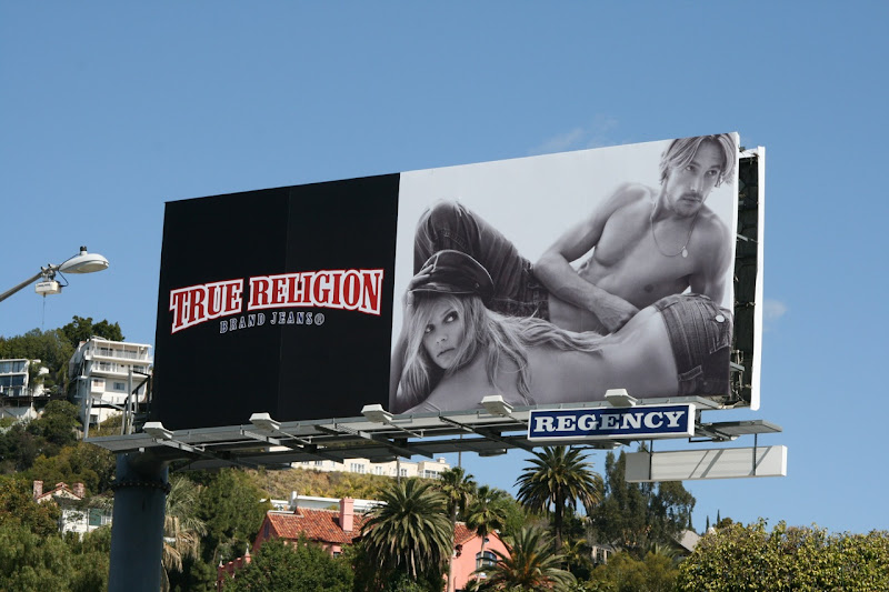 True Religion Jeans sexy model billboard