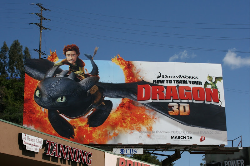 How to Train Your Dragon movie billboard