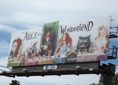 Alice in Wonderland movie billboard